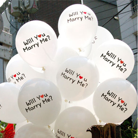 Free shipipng 100pcs lot will you marry me balloon for for Wedding decoration stores near me