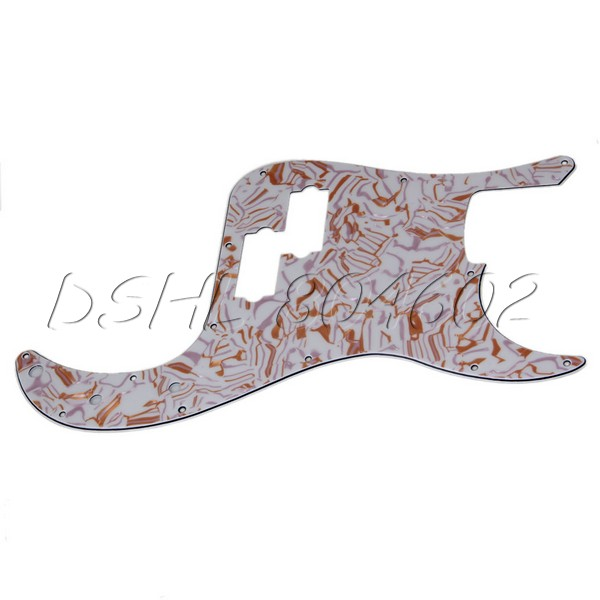 PB Electric Bass Guitar PVC Pickguard Gold Purple Shell Scratch Plate(China (Mainland))