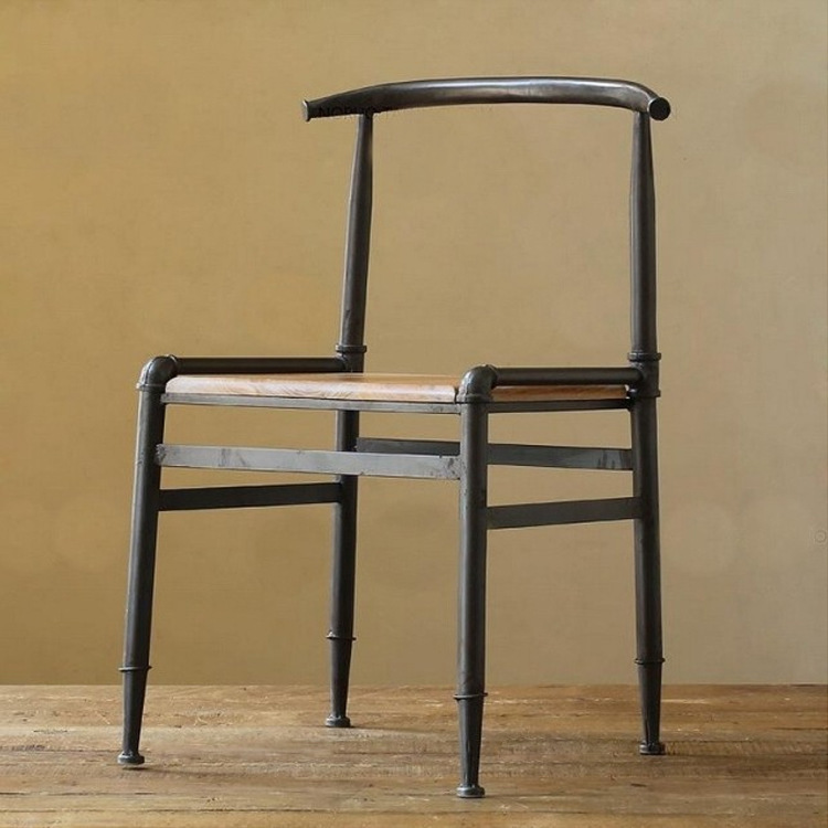 C Iron Wood household coffee chair do the old European-style retro bar stool chairs can to sample<br><br>Aliexpress