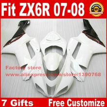 Buy Motorcycle fairings for Kawasaki 07 08 ZX6R fairing kits ZX-6R 2007 2008 Ninja 636 white black motobike set BS11 for $305.04 in AliExpress store