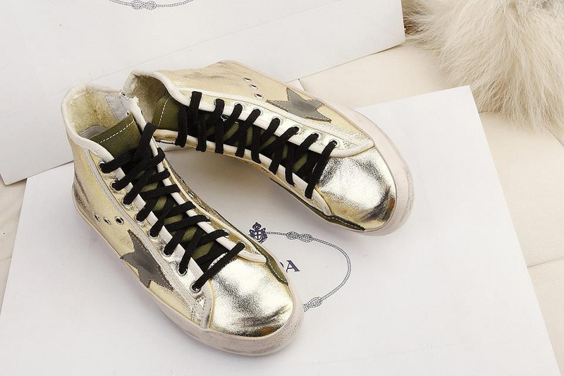 2015 New Golden Goose Deluxe Brand Shoes Casual Genuine Leather Mens Womens GGDB Gold Sneakers 100% High Quality Scarpe Uomo <br><br>Aliexpress