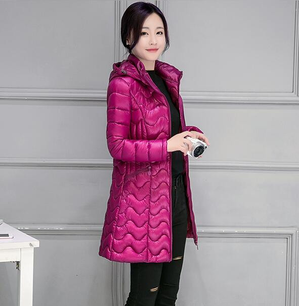 Скидки на 2016 новый зимний длинный жакет пальто женщин с капюшоном проложенный хлопка куртка пальто и пиджаки мода теплый женская Одежда T503
