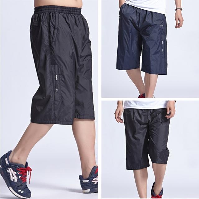 Лето мужские высокое качество бег колено - пляж быстросохнущие шорты широкий мужчины ...