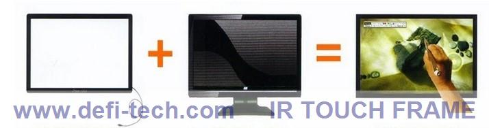 """10 points 40"""" IR Touch Screen Panel, 16:9 format for Interactive advertising,multi touch table(China (Mainland))"""