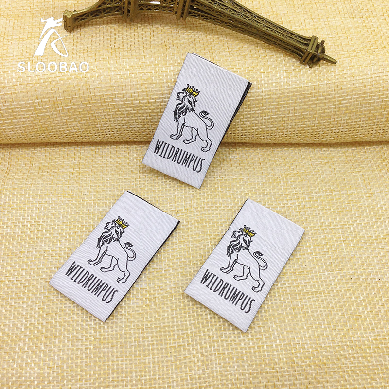 free shipping customized garment labels woven labels With embroidered tags labels