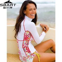 SBART Rashguard Women Swim Shirts Womens Rash Guard Swimwear Female Lycra Anty 50 UV Rushguard Long Sleeve Swimsuit (China (Mainland))