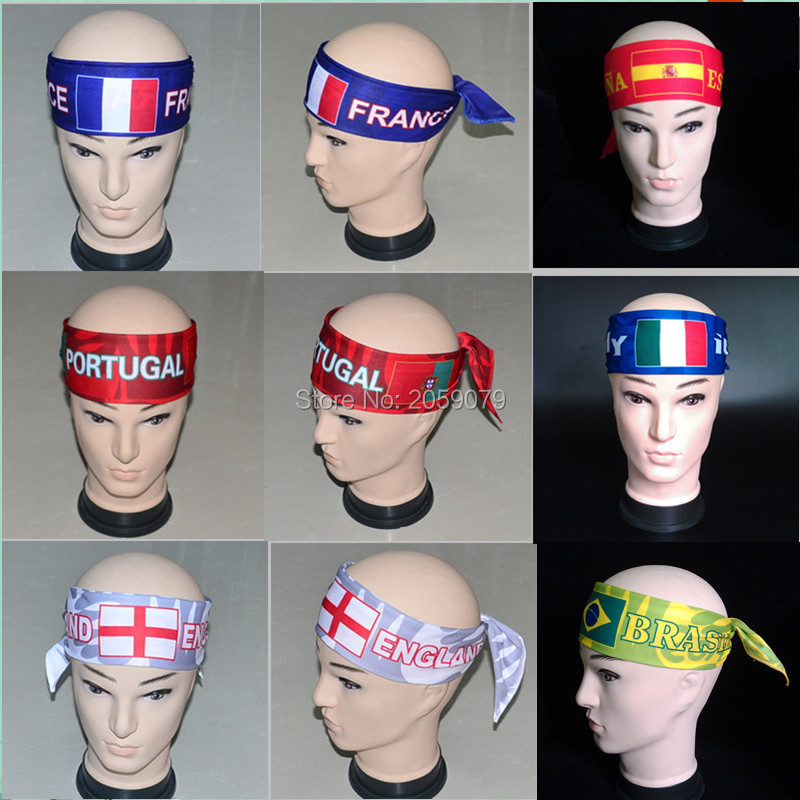 Wholesale soccer Headwear football souvenirs cheerleaders cheer national team Headbands men women Bandanas(China (Mainland))