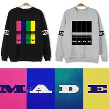 2015 YG Bigbang MADE fashion loose Hoodie bigbang kpop world tour colorful LOGO winter hoodies women men COTTON pullover TOP GD