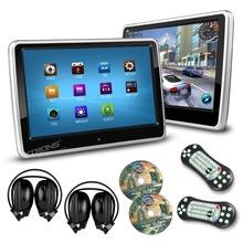 2pcs/ lot 10.1 Inch HD Digital Touch Screen Car Headrest DVD Player 1024*600 Ultra-thin Detachable 2 IR Headphones