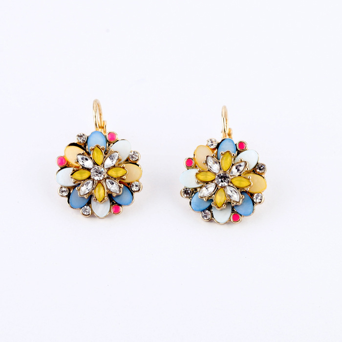 Clip On Earring Top Quality New Design Accessorie Vintage Jewelry Elegant Drop Earring Handmade for Women free shipping FHC0032(China (Mainland))