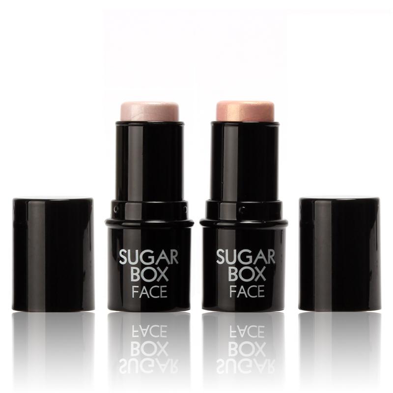 Гаджет  2Pcs Sugar box Highlighter Stick All Over Shimmer Highlighting Powder Creamy Texture Water-proof Silver Shimmer Light None Красота и здоровье