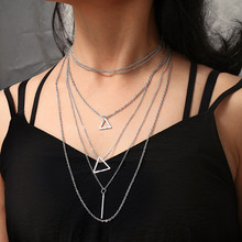 2019 fashion jewelry new bohemian tassel long star gold pendant personality necklaces for women modern accessories Neckla(China)