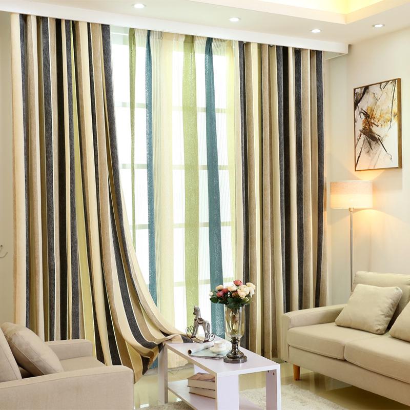 Fashion Stripe Rustic Curtain Yarn Bedroom Living Room: Popular Vertical Stripe Curtains-Buy Cheap Vertical Stripe