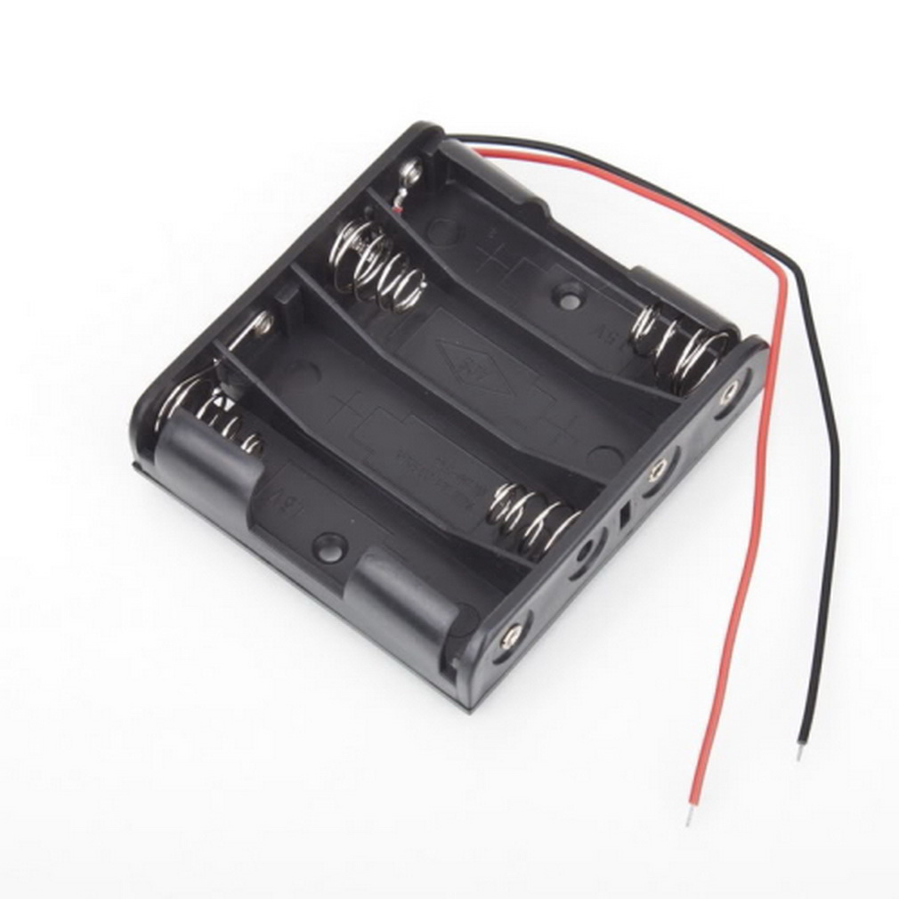 Гаджет  1Pcs Standard Slot Holder Case Battery Box for 4 Packs AA 2A Batteries Stack 6V None Бытовая электроника