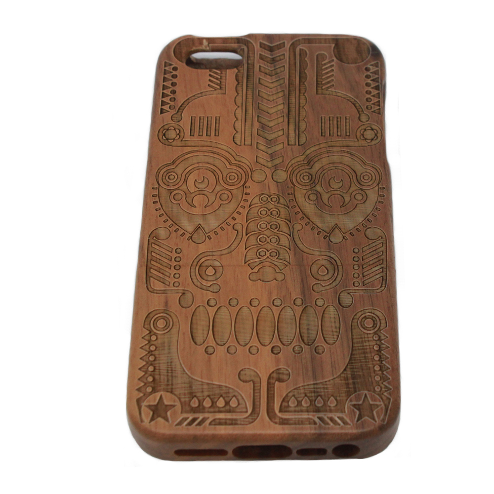 Real Bamboo Wooden Handcrafted Hard Shell Back Case Cover Apple Iphone 5 5S. . - Myemarket store