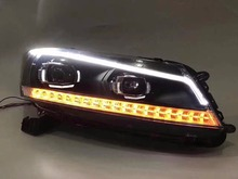 Buy Free vland factory headlamp Accord LED headlight H7 xenon lamps angle eyes turn Signal lamp plug play for $559.00 in AliExpress store