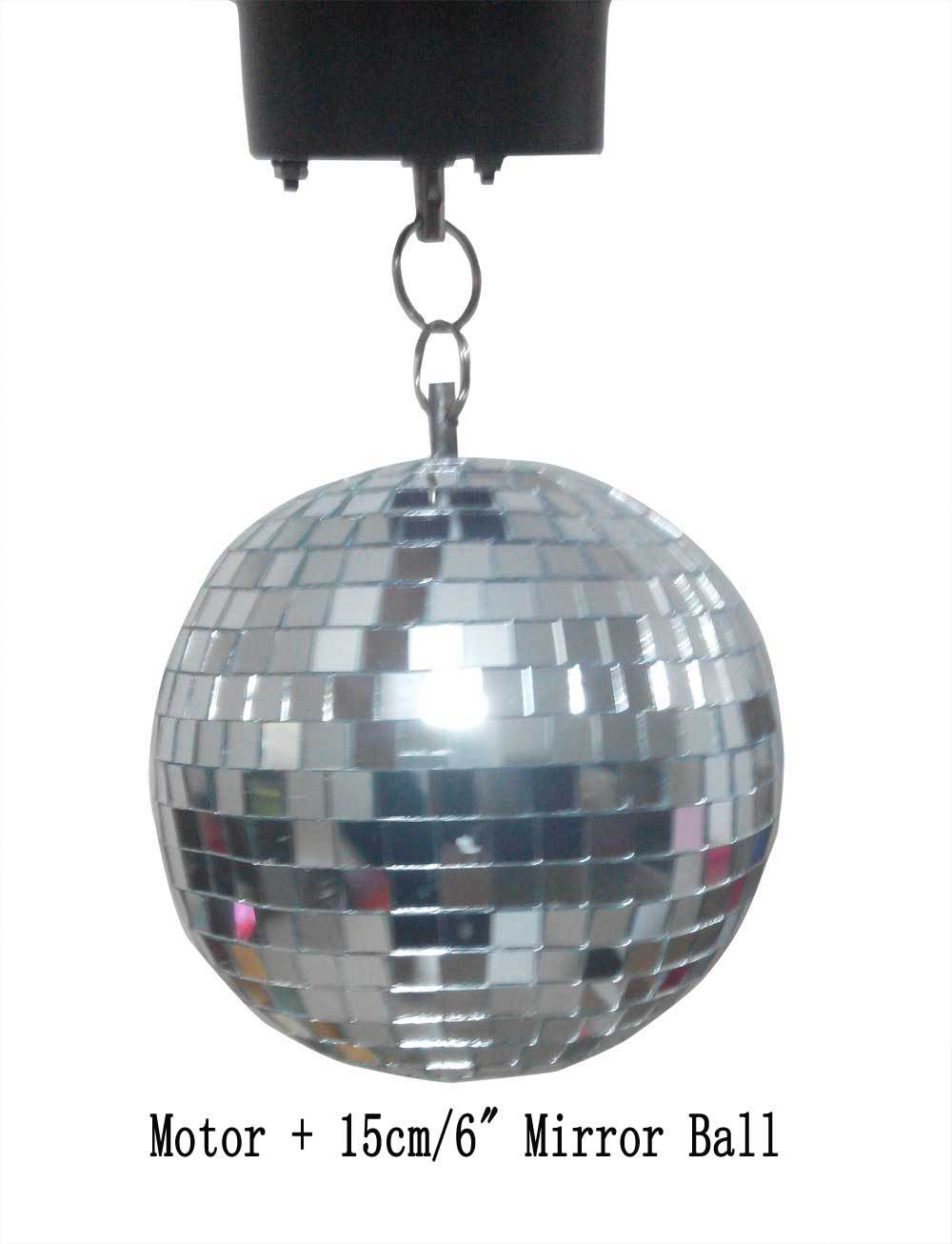 15cm clear glass rotating mirror ball 6 disco DJ party lighting with AC 110V or 220v mirror ball motor ABC-MB-15cm-Motor<br><br>Aliexpress