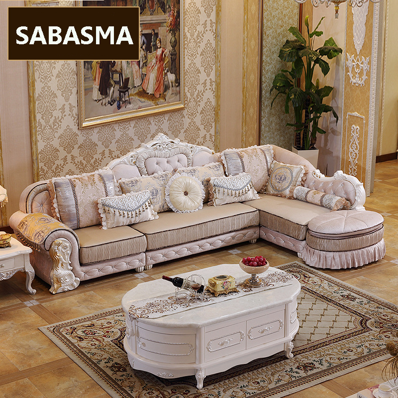 3 pcs new arrviel high grade fabric l shape sofa with for Drawing room furniture set