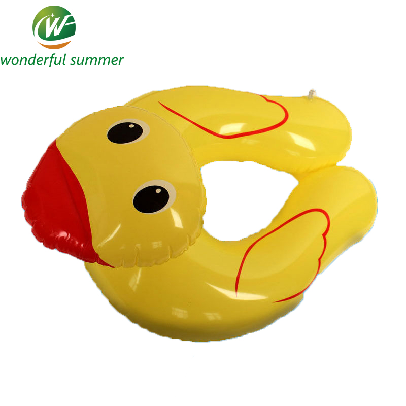 Lovely Yellow Duck Inflatable Baby Swimming Ring Children Armpits Circle Inflant Life Buoy Float Buoy Environmental PVC Hot Sell(China (Mainland))