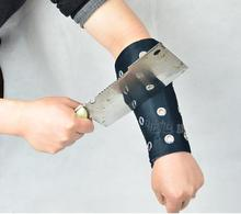 2015 new Chi Xu anti-shearing arm guards against cutting wrist cut-cut gauntlets-proof wristband tactical gear steel protection(China (Mainland))