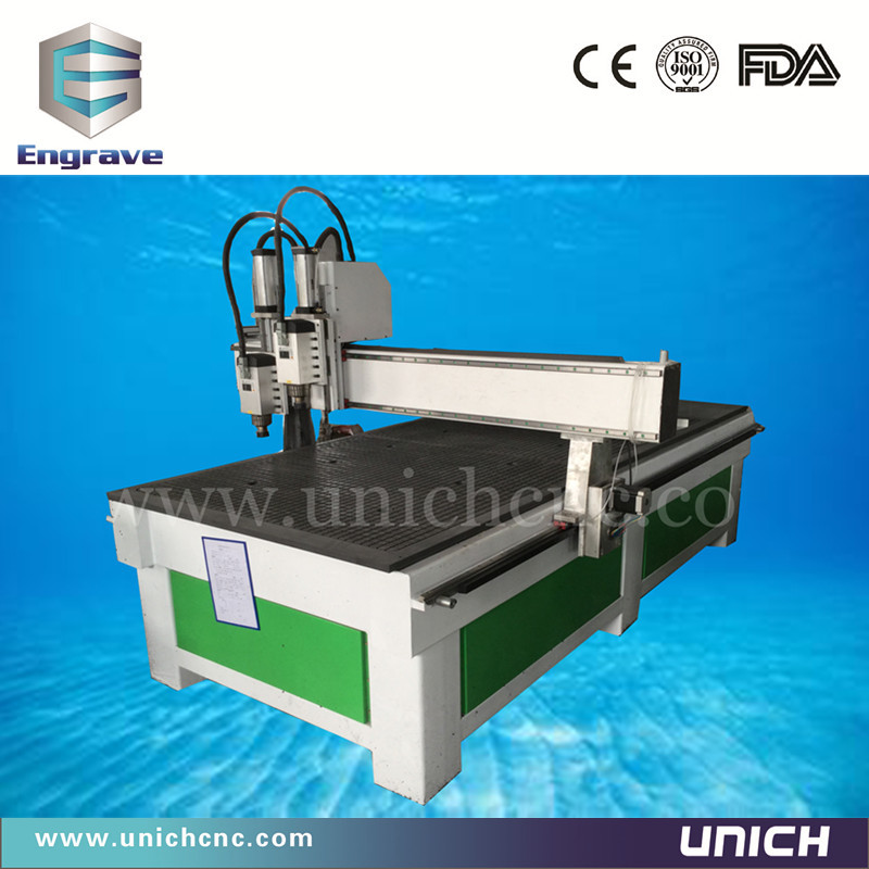 High speed and new model multi spindle 1325 cnc/double head cnc cutting machine/cnc router 1325(China (Mainland))