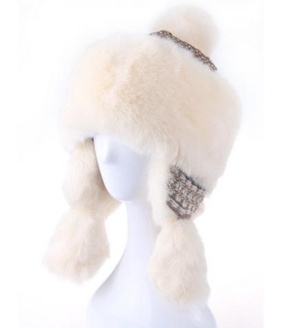 2015 new fashion winter Hat female winter Korean Princess thick warm knit wool cap lei feng ear cap Mongolia hat free shopping(China (Mainland))