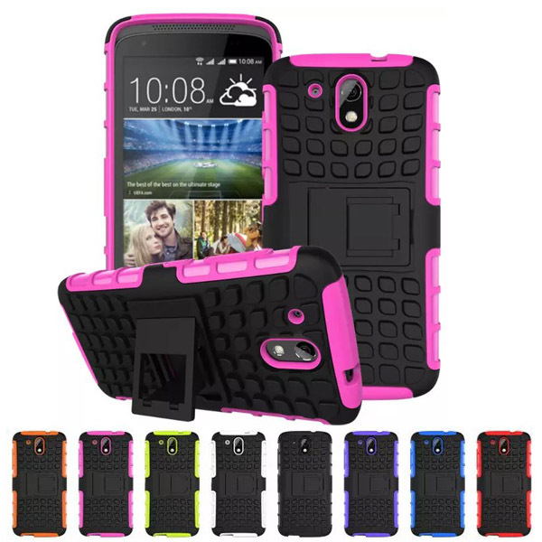 New Rugged PC+TPU hybrid case for HTC desire 526 526G 526G+ Shockproof Heavy Duty Dual Layer Silicone Armor Phone Cover(China (Mainland))
