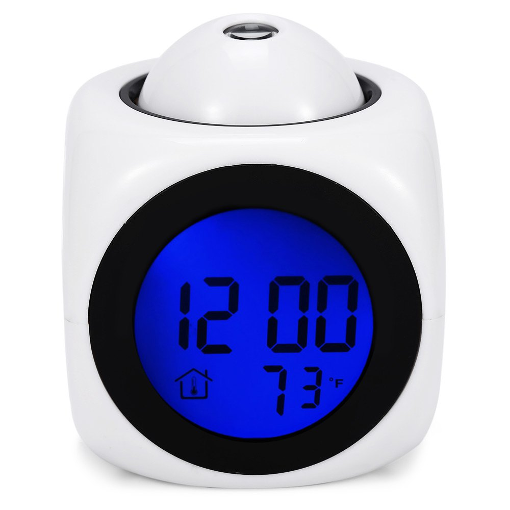 Digital Clocks Vibe LCD Voice Talking Projection Time Temp Display Digital Alarm Clock Projector Snooze Function Multifunction(China (Mainland))