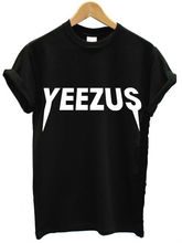 YEEZUS Letters Print Women T shirt Casual Cotton Harajuku For Funny Top Tee White Black Plus Size Drop Ship HH305-128(China (Mainland))