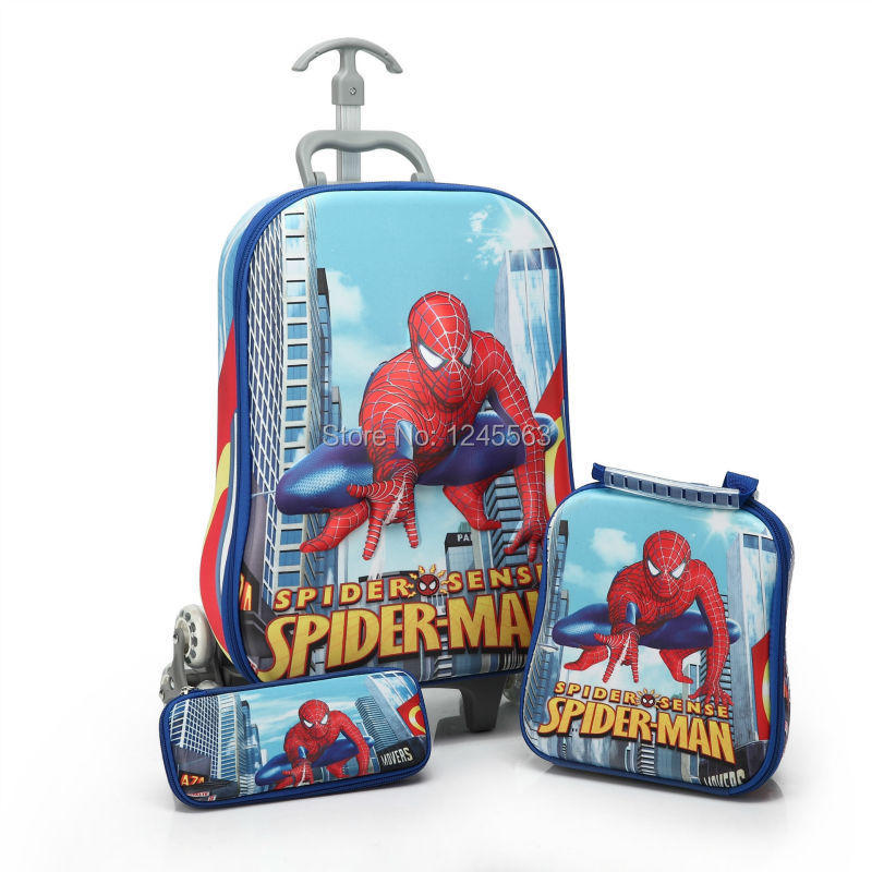 Wholesale Baby Boys Cartoon Luggage Bag Suits 3d Pattern ...