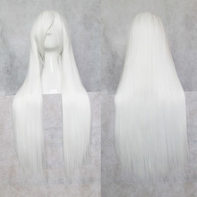 Women's Fashion Wig Hair Wigs With Bangs Long Straight Hair White HB88(China (Mainland))