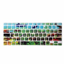 Wholesale Decal Rainbow Silicone US Keyboard Cover Keypad Skin Protector For Apple Mac Macbook Pro 13 15 17 Air 13 Retina 13