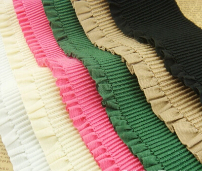 Free shipping 3m/lot 5cm wide flat flounce edges elastic webbing Soft and pereable elastic band/flex Garments accessories(China (Mainland))