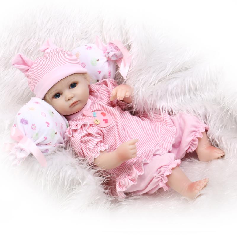 18inch 45cm Silicone baby reborn dolls, lifelike doll reborn babies toys for girl princess gift brinquedos Children's toys!(China (Mainland))