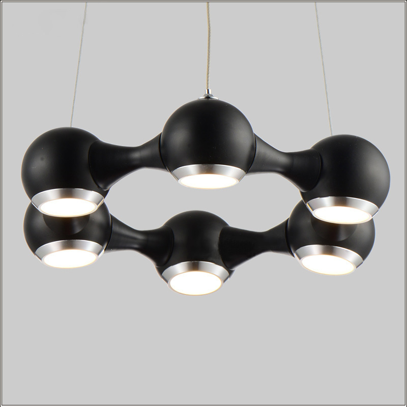 Фотография Modern LED Chandelier Ring Light Fitting 6 LED lights Circle Suspension hanging light 18 watt Prompt Shipping 100% Guanrantee