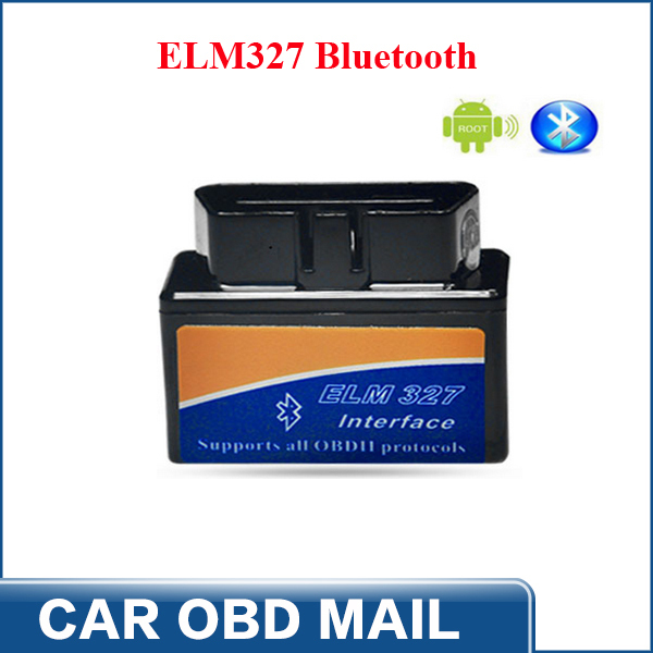 2014 Free Shipping ELM 327 Interface ELM327 Bluetooth Supports All OBD2 Protocols ELM327 Bluetooth(China (Mainland))