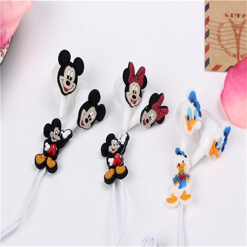 2015 New cartoon mouse with duck headphones stereo 3 5mm jake headset for iphone 4 4s