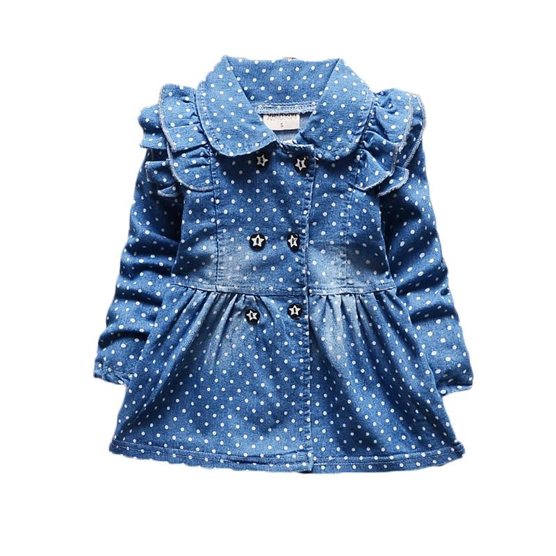 Newest Spring Baby Girls Dress Full Length Denim Infant Clothing High Quality Jeans Dress Baby Girl For Newborn Clothing Vestido(China (Mainland))