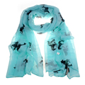 New Design Women Running Horse Print Long Scarf Shawl Wrap Stole Voile free shipping