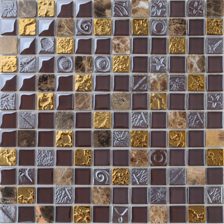 Marble mosaic backsplash tile