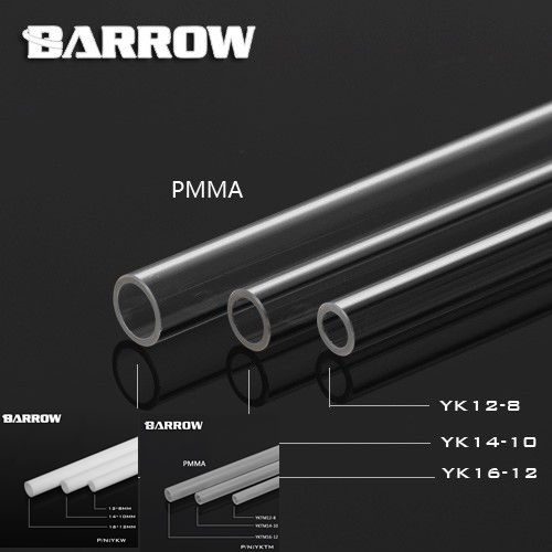 Barrow High quality PMMA 500mm 8*12mm/10*14mm/12*16mm water cooling tube / pipe water cooling system use.()