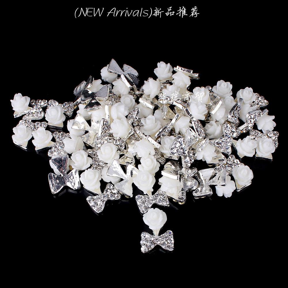 Wholesale 12pcs Lot Clear Crystal Rhinestone Resin Nail Art Tip DIY Decoration Nail Studs Free Shipping(China (Mainland))