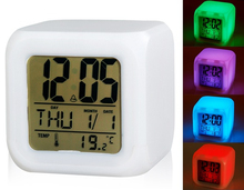 Glowing LED Night Light Color Changing Digital Alarm Clock(China (Mainland))