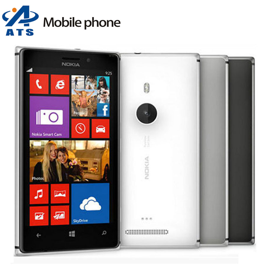 """Original Nokia Lumia 925 Mobile Phone Dual Core 16GB Storage 8MP Camera 4.5"""" Touch Screen cell phone Free Shipping(China (Mainland))"""
