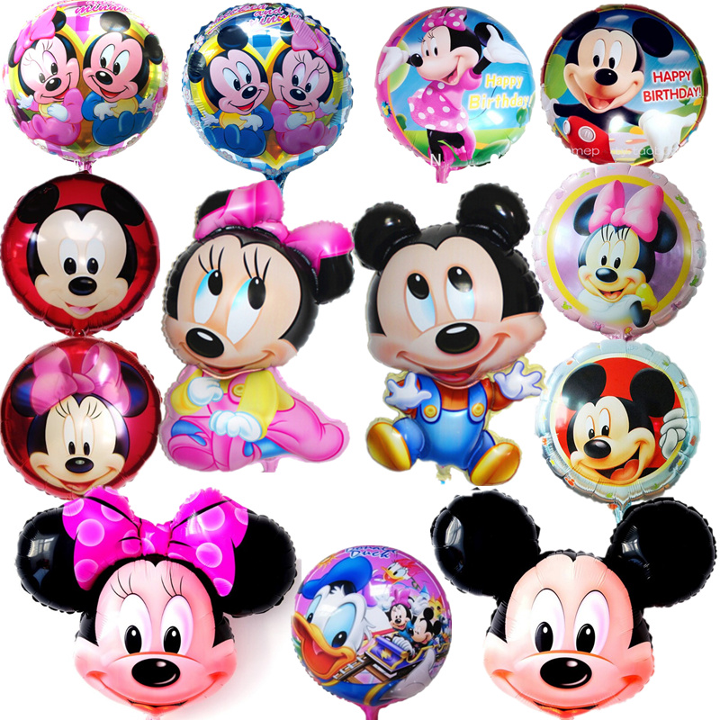 Mickey Minnie Mouse Cartoon Theme Foil Balloons Birthday Party Decorations Helium Balloon Kids Toys Children's Holiday(China (Mainland))