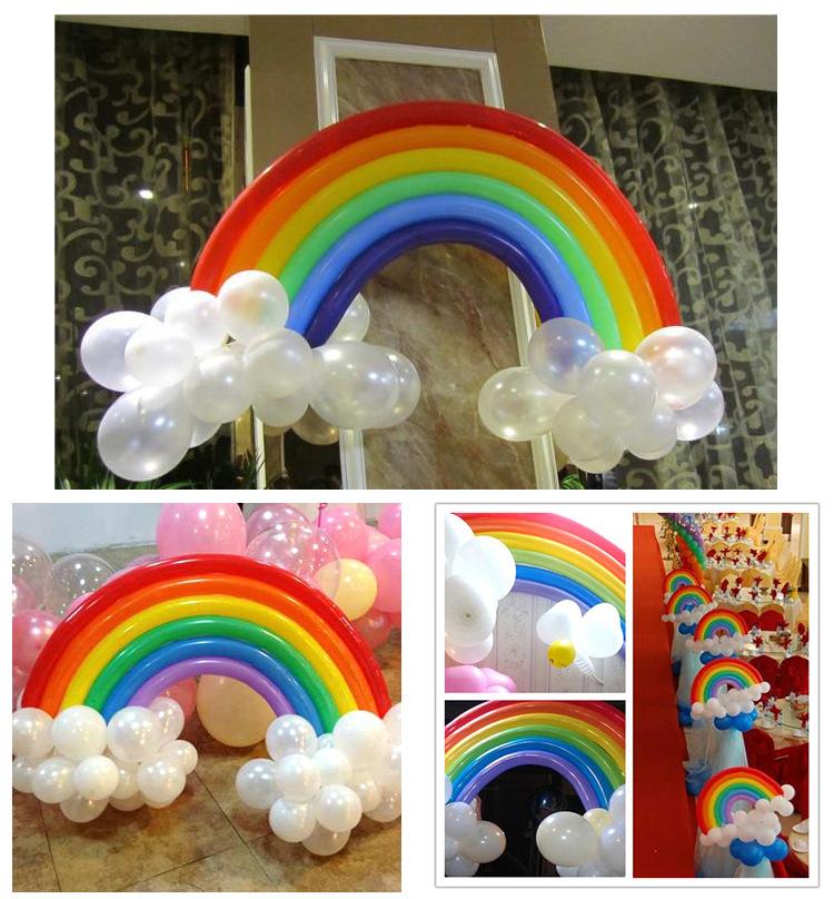 25pcs set diy rainbow latex balloon wedding valentine 39 s for Aana decoration wedding accessories