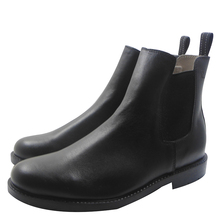 2016 Invierno Unisex Equitación Botines de cuero Genuino moda llanura botas de Nieve punta redonda plana y sólida con el Zapato de cuero HH009(China (Mainland))