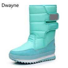 ドウェイン雪のブーツ 2018 ブランドの女性の冬母の靴アンチスキッド防水柔軟な女性ファッションカジュアルブーツプラスサイズ(China)