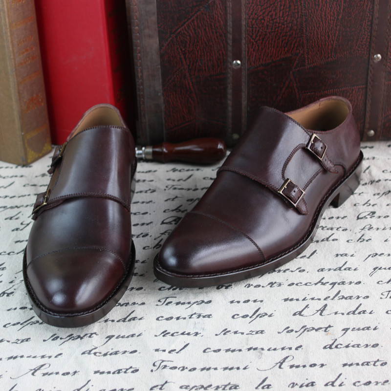 Best quality Goodyear handmade Genuine leather mens shoes Business suit dress Loafers(China (Mainland))