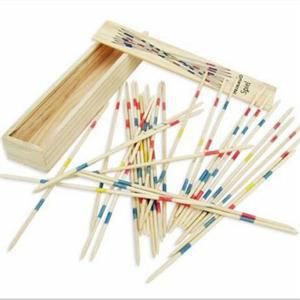 Free Shipping Traditional Wooden Pick Up Sticks Toys For Kids Toys birthday Gift for Kids set includes 30 striped sticks(China (Mainland))